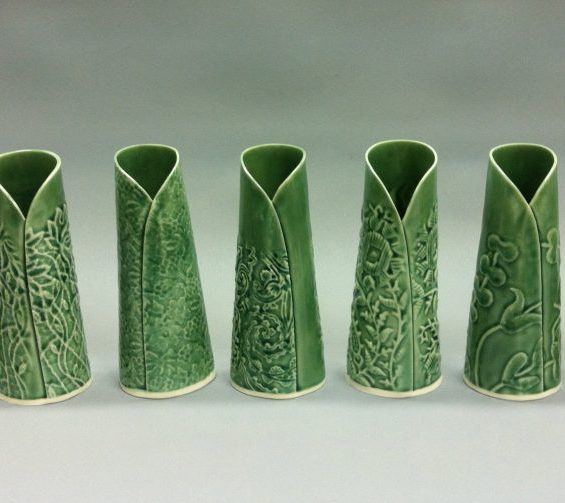 taper folded budvases