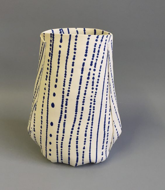 stripey-spotty soft pot