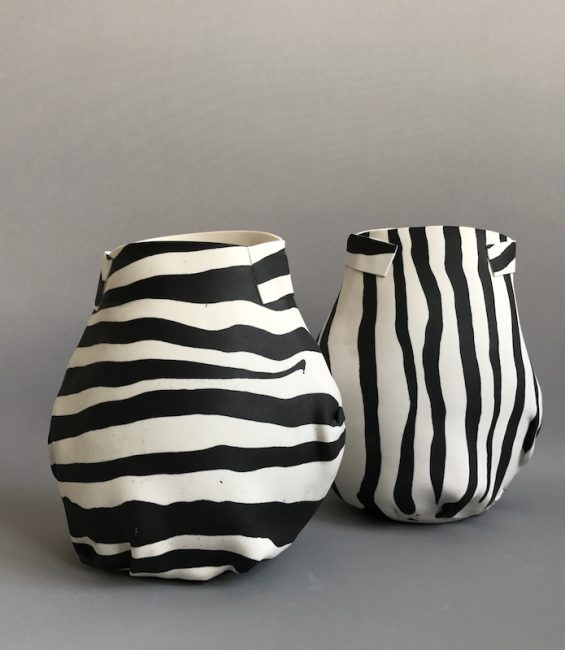 thick stripe soft pots