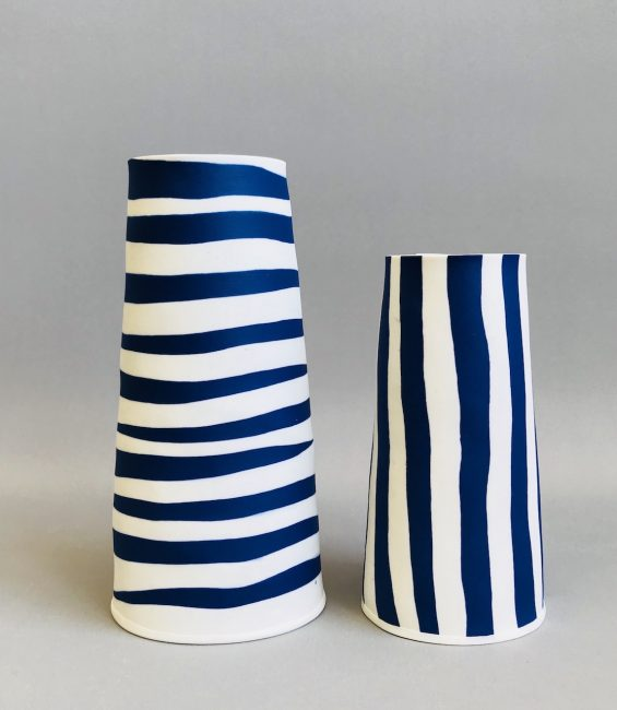 blue & white thick stripe