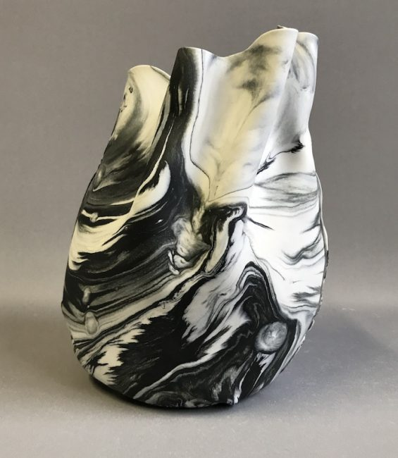 marbled soft pot