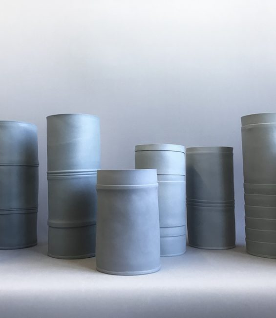 small pleated vessels