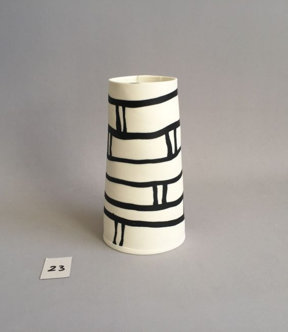 # black and white pattern taper