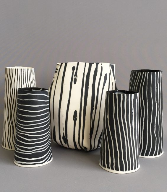 stripey tapers and soft pot