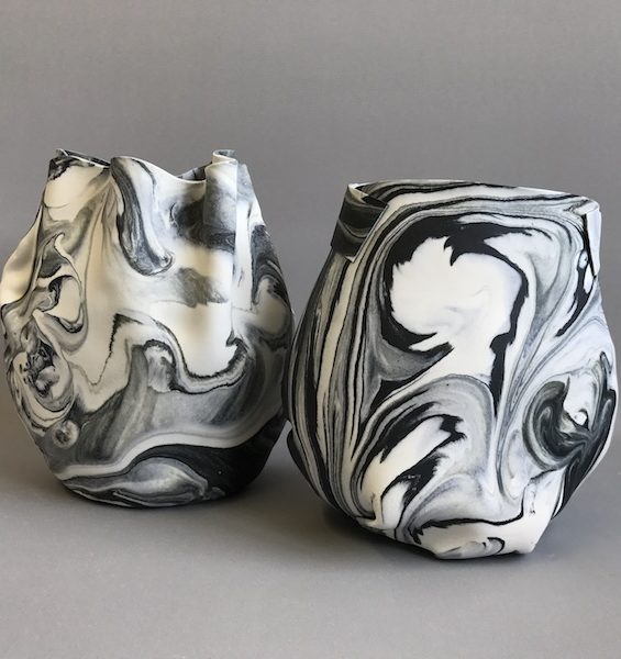 marbled soft pots