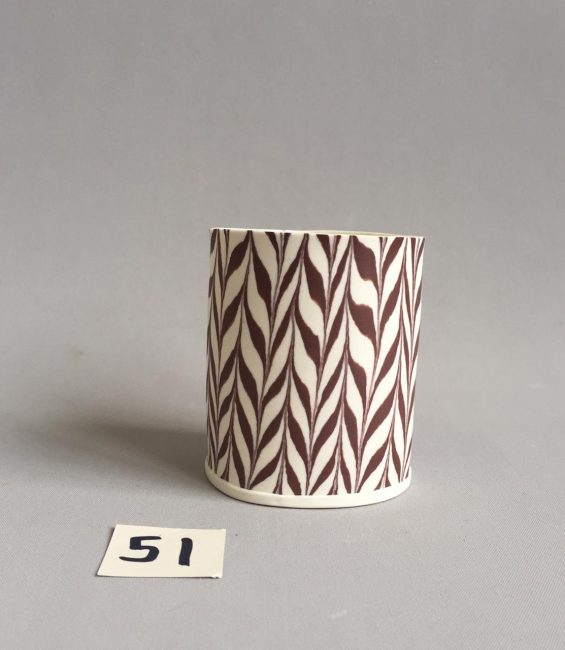 #51 brown feathered small tealight